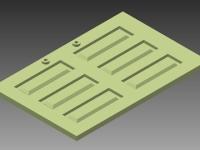 3DFA-31153-20 CLASSIC RAILBUS BAGGAGE DOORS (LEFT & RIGHT)