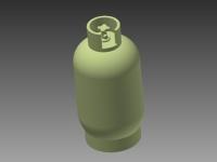 3D-LPT-15 LARGE PROPANE CYLINDER