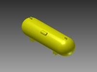 SMALL HORIZONTAL PROPANE TANK - 3D-SPT-01